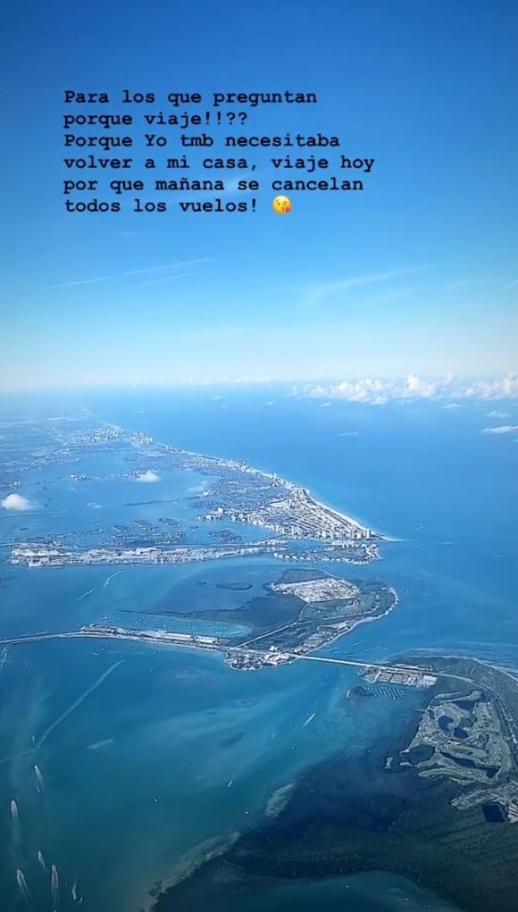 """Loly Antoniale dejó Córdoba y regresó a Miami por la pandemia: """"Necesitaba volver a mi casa"""""""