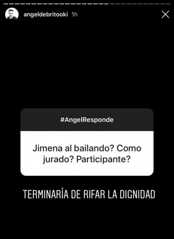 """Ángel de Brito, lapidario sobre la posibilidad de que Jimena Barón se sume al Bailando: """"Terminaría de rifar la dignidad"""""""