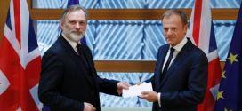 Reino Unido entrega a la UE documento de activación del Brexit