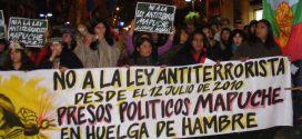 Chilenos se movilizan para apoyar la lucha de los Mapuches