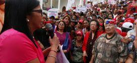 Presidenta de la ANC: En Venezuela no habrá espacio para la violencia de genero