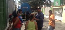 Hidrolara distribuyó agua en Palavecino a través de camiones cisternas