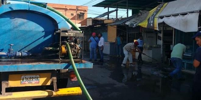 ¡LIMPIEZA EN CAYAPA! Mercado Terepaima recibe jornada de desinfección