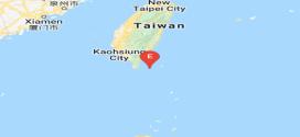 Terremoto de magnitud de 5,3 sacude aguas costeras de Taiwan