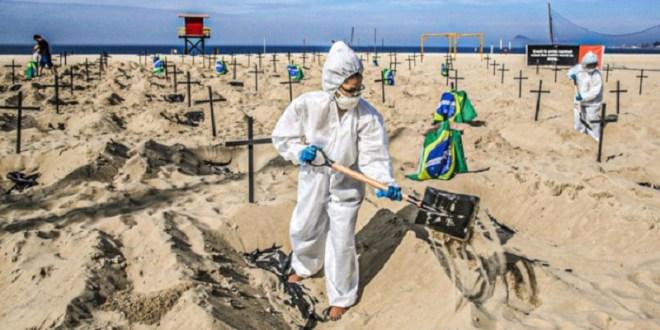 Brasil supera las 496 mil muertes por la COVID-19