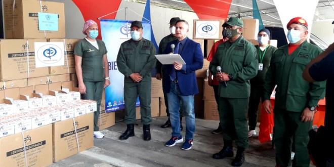 Ministerio Público dona insumos médicos a hospitales militares