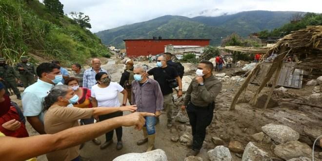 Vicepresidenta Delcy Rodríguez visita Mérida y anuncia Puente Aéreo permanente a víctimas del Cambio Climático