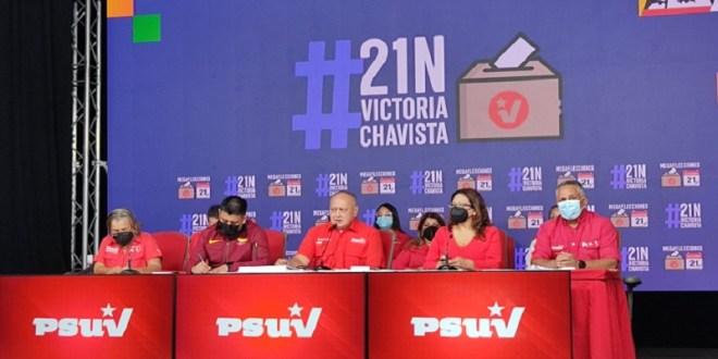 PSUV presenta listado final de candidatos y candidatas para gobernaciones y alcaldías para las megaelecciones del 21Nov