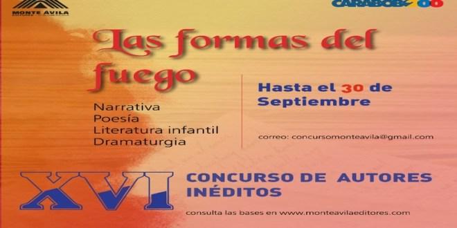 HASTA EL 30SEP ¡PARTICIPA! / Monte Ávila Editores inicia convocatoria al concurso de Autores Inéditos