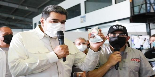 Presidente Maduro augura que 2021 será el primer año de crecimiento real del Producto Interno Bruto (PIB) de Venezuela