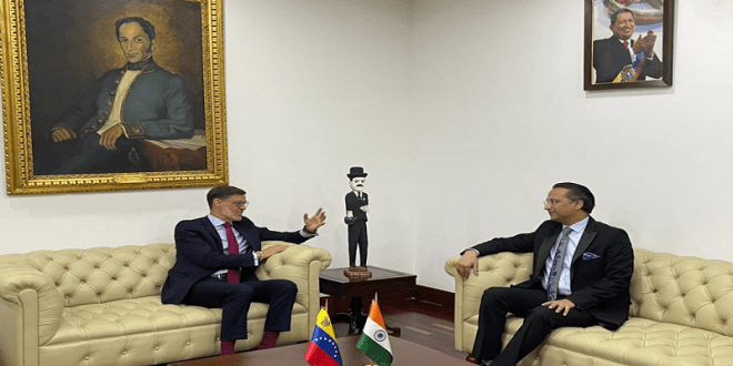 Venezuela y la India se reúnen para profundizar relación bilateral al más alto nivel
