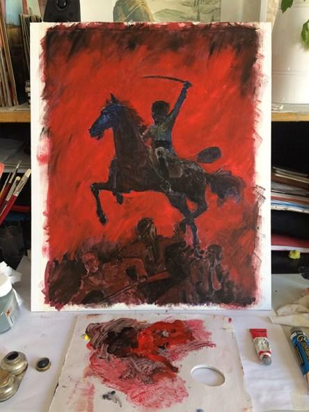 Proceso en la mesa de pintura 3