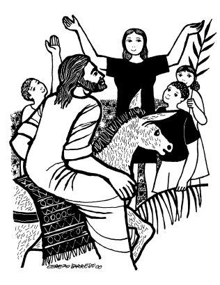 Evangelio segúnsegún san Lucas (22,14–23,56): En aquel tiempo, los ancianos del pueblo, con los jefes de los sacerdotes y los escribas llevaron a Jesús a presencia de Pilato. No encuentro ninguna culpa en este hombre C. Y se pusieron a acusarlo diciendo S. «Hemos encontrado que este anda amotinando a nuestra nación, y oponiéndose a que se paguen tributos al César, y diciendo que él es el Mesías rey». C. Pilatos le preguntó: S. «¿Eres tú el rey de los judíos?». C. El le responde: + «Tú lo dices». C. Pilato dijo a los sumos sacerdotes y a la gente: S. «No encuentro ninguna culpa en este hombre». C. Toda la muchedumbre que había concurrido a este espectáculo, al ver las cosas que habían ocurrido, se volvía dándose golpes de pecho. Todos sus conocidos y las mujeres que lo habían seguido desde Galilea se mantenían a distancia, viendo todo esto. C. Pero ellos insitían con más fuerza, diciendo: S. «Solivianta al pueblo enseñando por toda Judea, desde que comenzó en Galilea hasta llegar aquí». C. Pilato, al oírlo, preguntó si el hombre era galileo; y, al enterarse de que era de la jurisdicción de Herodes, que estaba precisamente en Jerusalén por aquellos días, se lo remitió. Herodes, con sus soldados, lo trató con desprecio C. Herodes, al vera a Jesús, se puso muy contento, pues hacía bastante tiempo que deseaba verlo, porque oía hablar de él y esperaba verle hacer algún milagro. Le hacía muchas preguntas con abundante verborrea; pero él no le contestó nada. Estaban allí los sumos sacerdotes y los escribas acusándolo con ahínco. Herodes, con sus soldados, lo trató con desprecio y, después de burlarse de él, poniéndole una vestidura blanca, se lo remitió a Pilato. Aquel mismo día se hicieron amigos entre sí Herodes y Pilato, porque antes estaban enemistados entre si. Pilato entregó a Jesús a su voluntad  C. Pilato, después de convocar a los sumos sacerdotes, a los magistradosy al pueblo, les dijo: S. «Me habéis traído a este hombre como agitador del pueblo; y resulta que yo 
