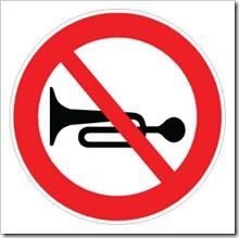 claxonatul interzis