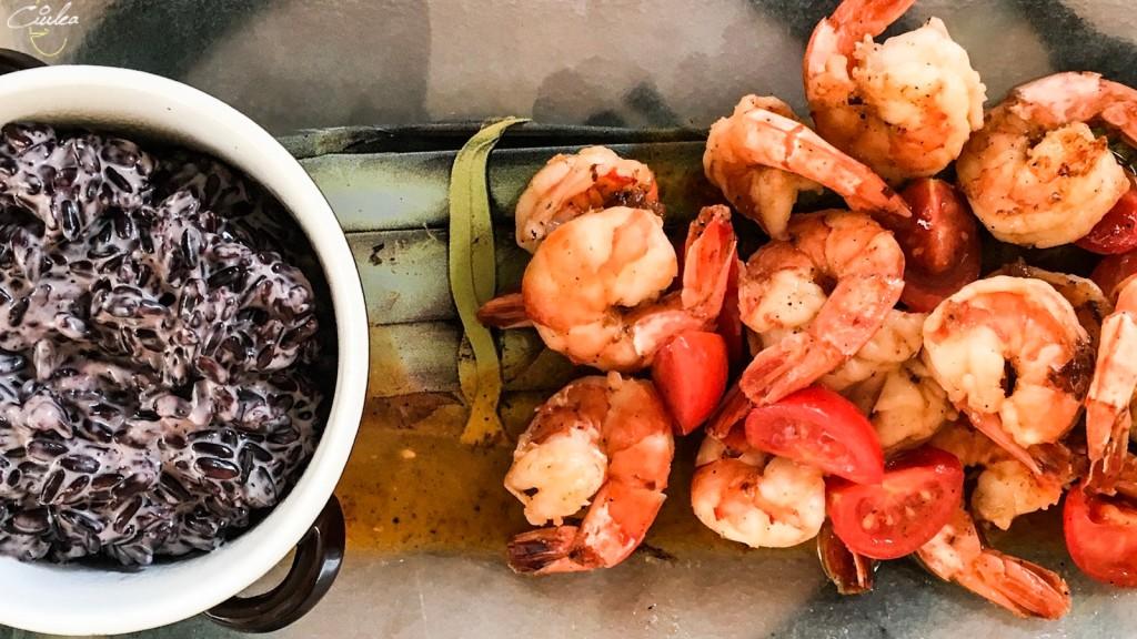 restaurant La Cuptor Sibiu - creveti cu orez negru