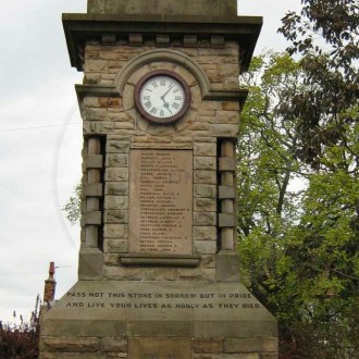 Hinderwell Memorial clock