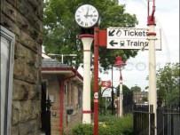 Clitheroe Railway station clock