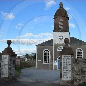 Kirkbean church clock, Scotland