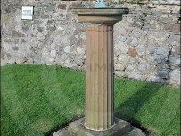 Standing about 1.5m tall is the Kirkbean sundial
