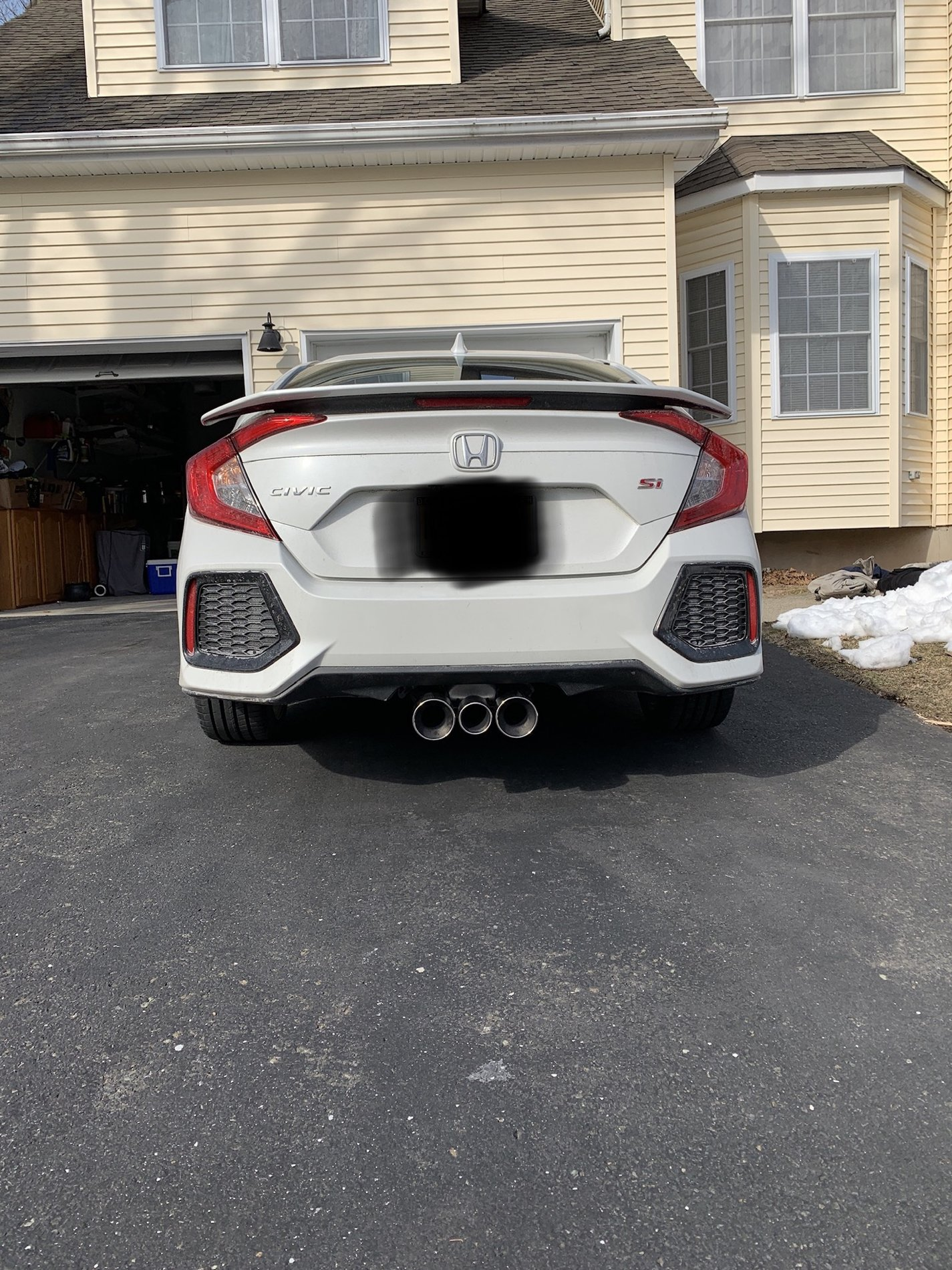 installed fk8 type r exhaust on 19