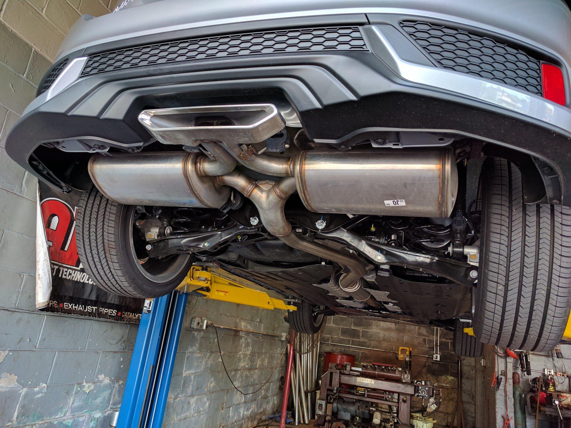 my custom 17 si exhaust 2016 honda