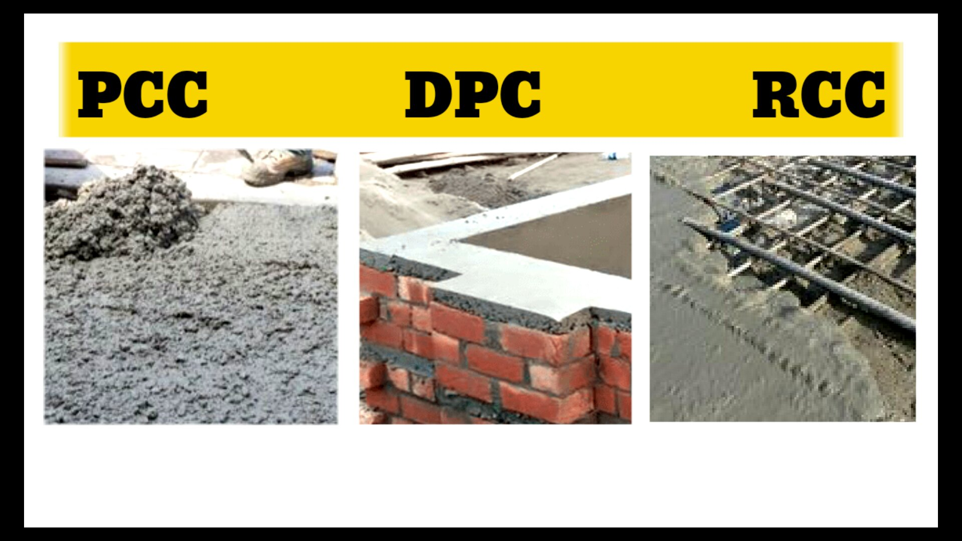 What is PCC DPC and RCC in civil engineering | RCC and PCC