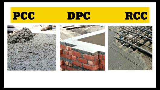 what is PCC DPC and RCC in civil engineering