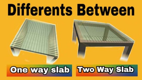 Different between one way slab and two way slab