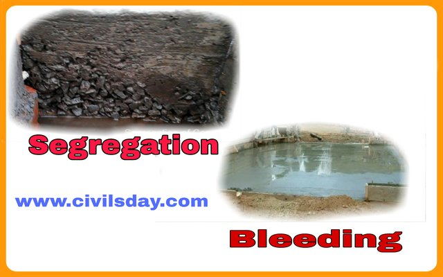 Difference between segregation and bleeding Concrete