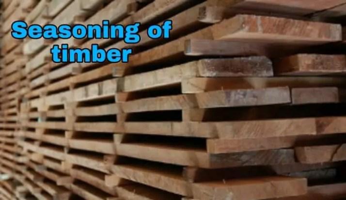 Seasoning of timber