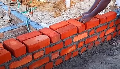 Brick work in Cement mortar