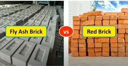 Fly ash brick Vs red brick