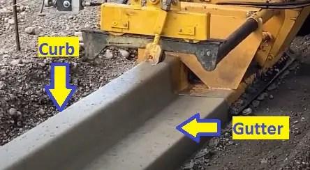 Curb and Gutter details | Advantages, Purpose, Construction Process