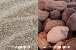 fine aggregate and course aggregate