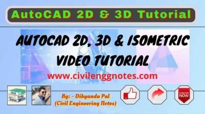 AutoCAD 2D, 3D & Isometric Tutorial