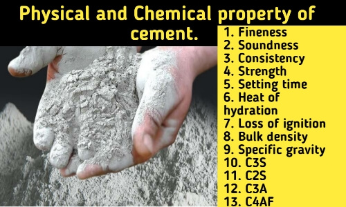 Properties of cement and cement bag