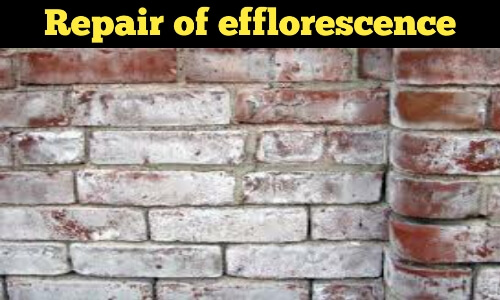 repair of efflorescence