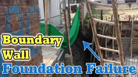 Foundation Failure due to excavation