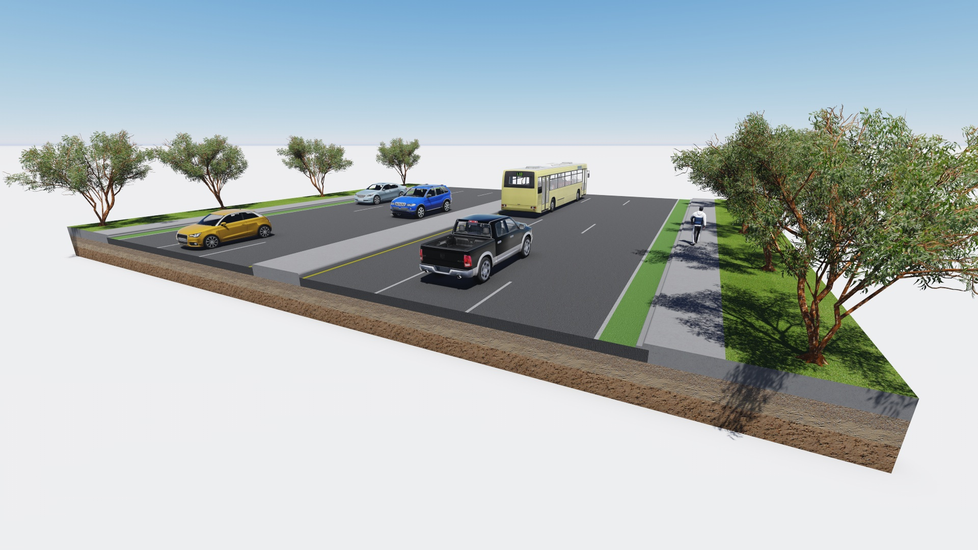 How To Make A 3d Road Cross Section