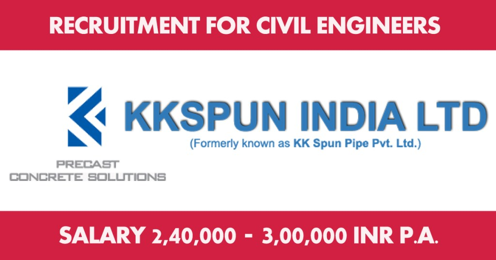 KKSpun India Ltd Recruiting for Civil Engineers in the Category of Civil Engineering Jobs