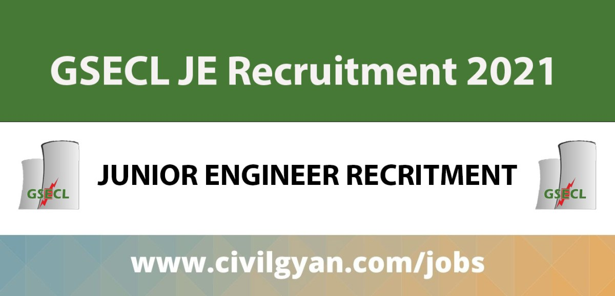 GSECL Junior Engineer (JE) recruitment 2021