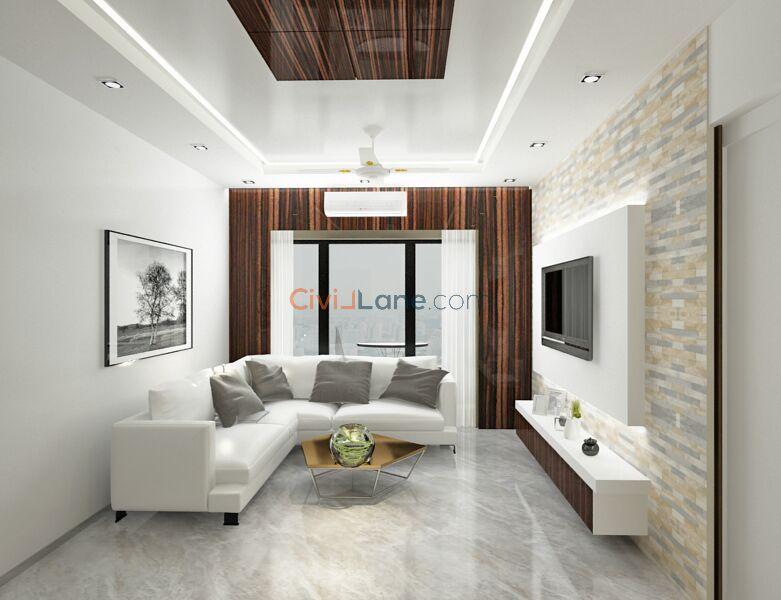 3D Living Room Interior Design Mumbai