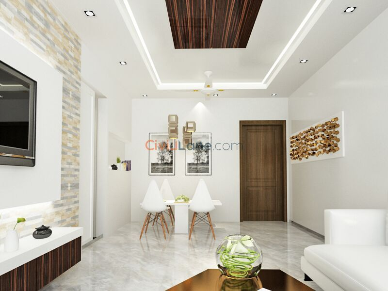 3D Living Room Interior Design Mumbai