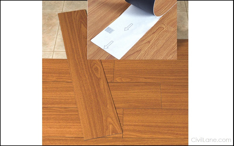 PVC Vinyl Wooden Flooring Sample