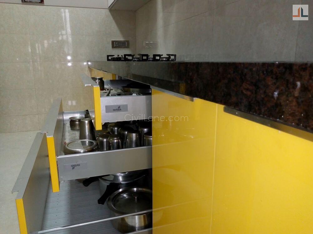 Kandivali Acrylic Modular Kitchen Design Mumbai