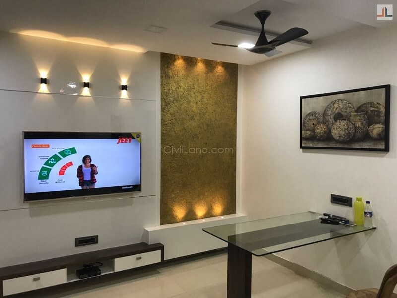 Charcoal Sheet Highlighter TV Unit Design Thane Mumbai