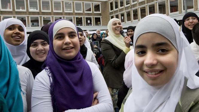 Muslims in Amsterdam Netherlands