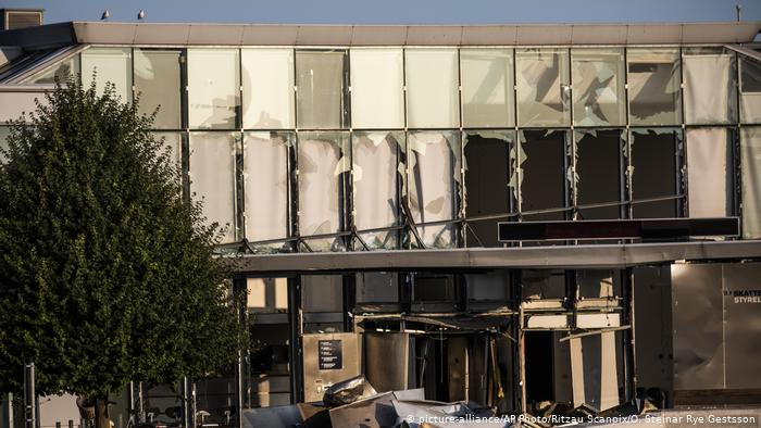 The damaged tax office in Copenhagen
