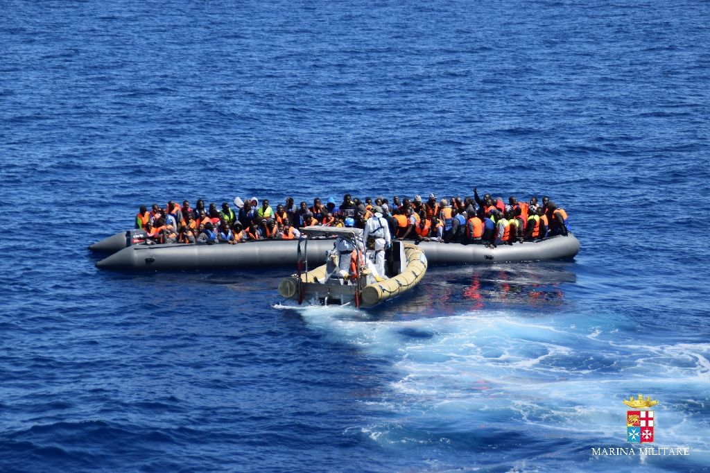 African migrants head towards Europe