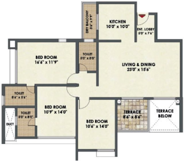 What Is 1 BHK 2 BHK Amp 3 BHK 05 BHK In A Flat Layout Civilology